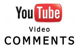 Add comments on YouTube videos